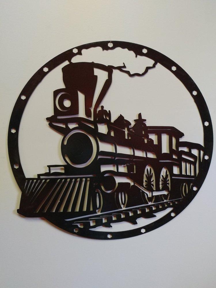 Metal Train Art