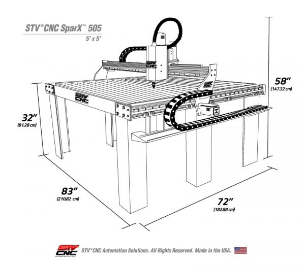 5x5 CNC plasma table kit