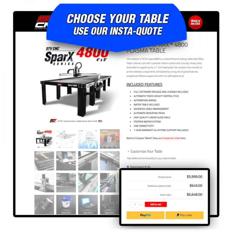 The best 4x8 automated plasma tables