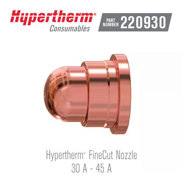 Hypertherm® Consumables 220930 Nozzle FineCut®